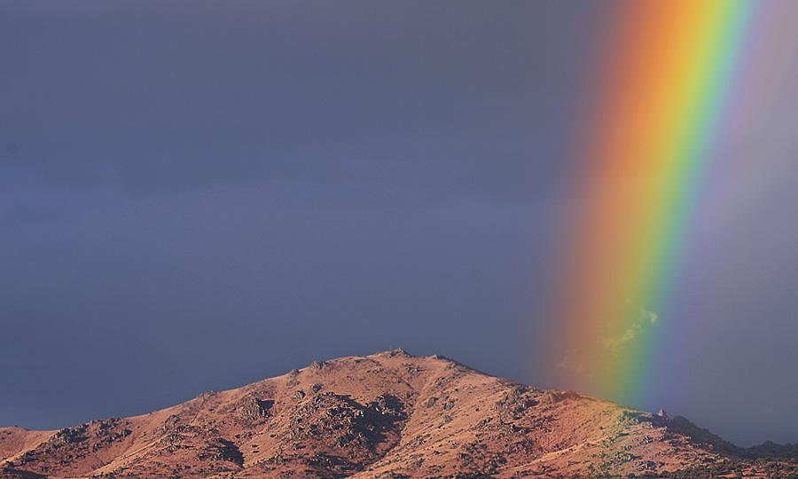 Volcán de colores, en el pico de San Pedro de Colmenar.